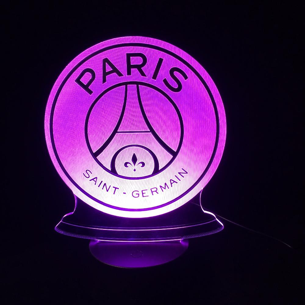 Veilleuse 3D Led Du Paris Saint-Germain